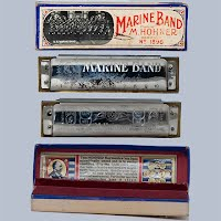 Marine Band M Hohner number 1896 Harmonica in original box, Made in Germany