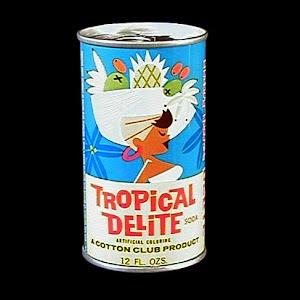 Vintage Tropical Delite Soda Bank, Cotton Club Bottling Co Cleveland Ohio