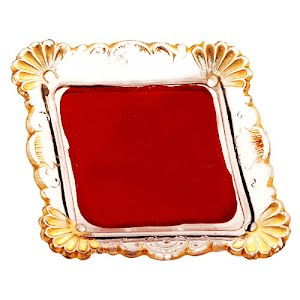 Antique novelty ruby stained glass pin tray