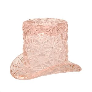 novelty tiny button and daisy pink hat