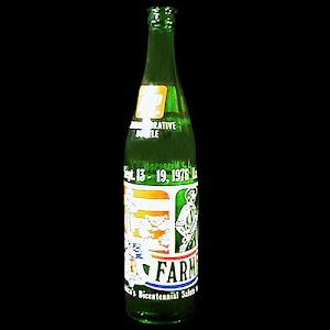 Vintage 7 UP Commemorative Bottle, Farmfest, Lake Crystal, 1976