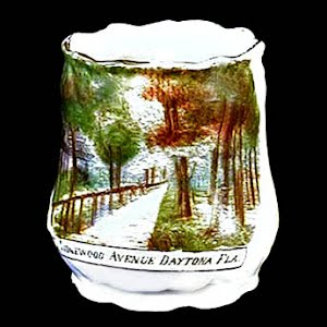 Antique Porcelain Toothpick Holder, souvenir of Ridgewood Daytona