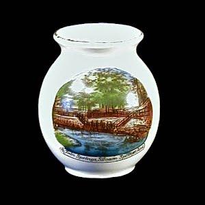 Antique Porcelain Toothpick Holder, white souvenir of Twin Springs, Arkansas