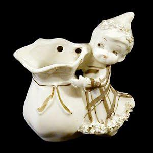 Antique Lefton Porcelain Vase or Match Holder