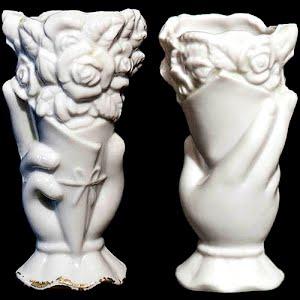 Antique Porcelain Hand Vase with flowers
