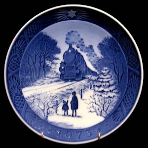 Vintage Blue and White Plate, 1973 Royal Copenhagen Christmas Plate