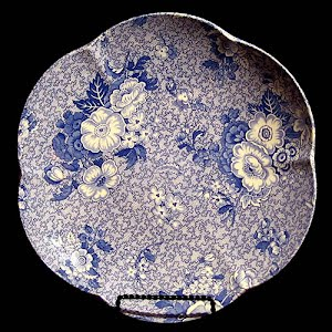 Vintage Blue and White Spode Plate, Premula design