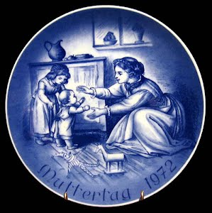 Vintage Bareuther 1971 Mothers Day Plate