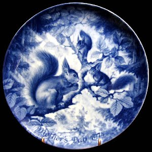 Vintage Blue and White 1974 Mothers Day Plate