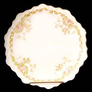 Antique Bavarian Dessert Plates with flower decoration