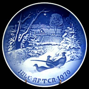 Vintage Blue and White Bing and Grondahl 1970 Christmas Plate