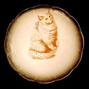 Antique Cat Plate