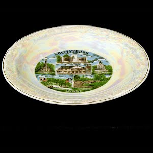 Antique Plate, porcelain souvenir of Gettysburg