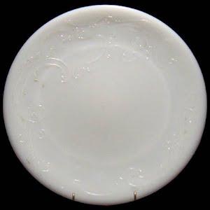 Antique Plate, white milk glass