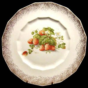 Antique Dresden Porcelain Strawberry Plate