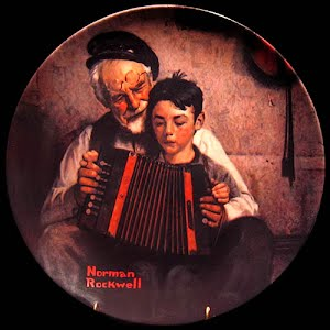 Vintage Norman Rockwell, The Music Maker, Porcelain Plate, 1981
