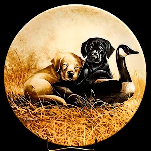Vintage Puppy Plate, United Kennel Club