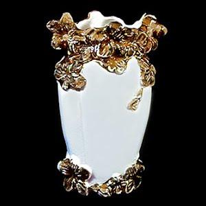 Antique Blue Porcelain Vase with gold