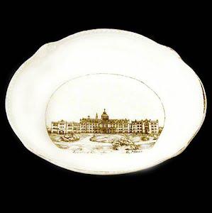antique souvenir porcelain bowl, Mankato MN