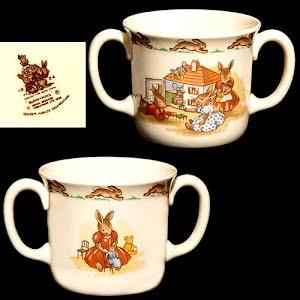 Vintage Bunnykins Golden Jubilee 2 handled Mug