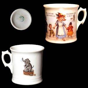 Antique Nursery Porcelain Rhyme Child Mug