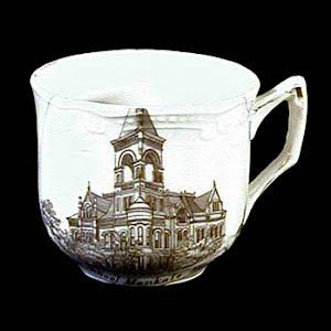 Antique Souvenir Porcelain Cup Mankato High School