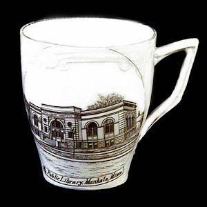 Antique Souvenir Porcelain Cup Mankato Library