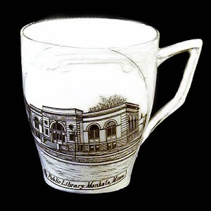 Antique Souvenir Porcelain Cup Mankato Library