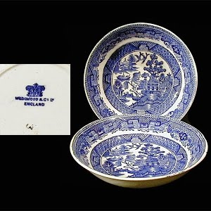 Antique porcelain sauce dish blue and white