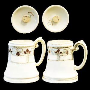 Antique Porcelain Salt and Pepper Shakers