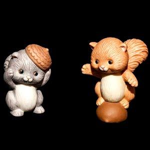 Vintage Avon Best Buddies Porcelain Squirrels