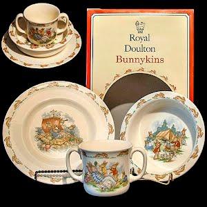 Vintage Royal Doulton Bunnykins Breakfast Set