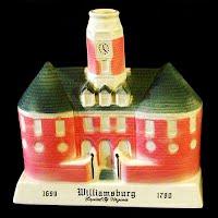 Vintage Pottery Bourbon Whiskey Decanter Williamburg