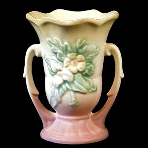 antique hull pottery vase, wildflower series