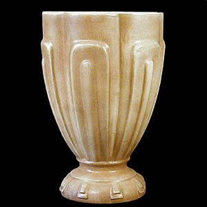 Vintage Large Tan Pottery Vase
