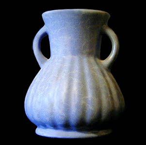 Vintage Redwing Rumrill Blue Pottery Vase