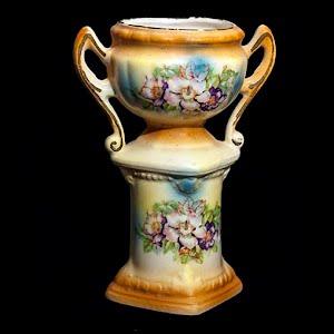Vintage Czechoslovakia Painted Vase