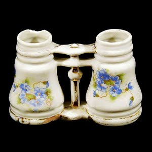 Antique Binocular Double Bud Vase