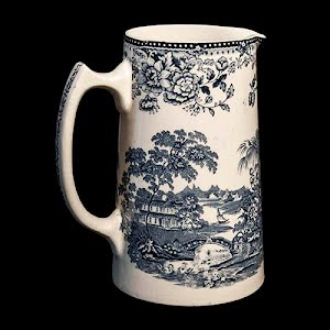 Clarice Cliff Tonquin Royal Staffordshire Blue and White Milk Pitcher