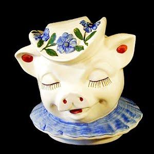 Vintage Shawnee Clover Winnie Cookie Jar Lid Head