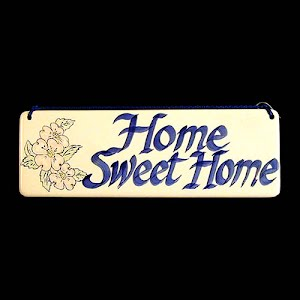 Vintage Pottery Home Sweet Home Sign