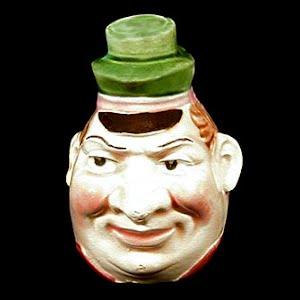 Antique Figural Pitcher of a Mans Face