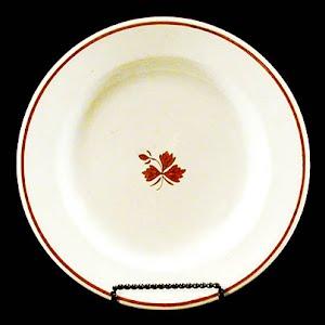 Antique Ironstone Tea Leaf Soup Bowl