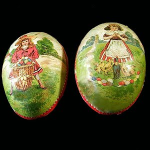 Antique Paper Mache German Easter Egg