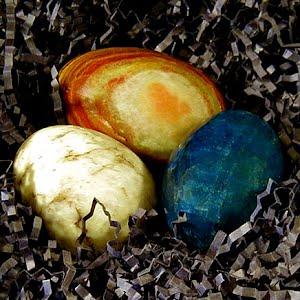 Vintage Stone Onyx Easter Eggs