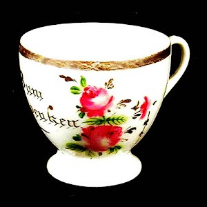 Antique German Porcelain cup Bum Anderken