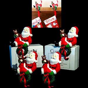 Vintage Santa Christmas Stocking Holders