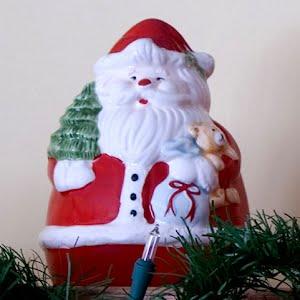 Vintage Ceramic Santa Christmas Bank
