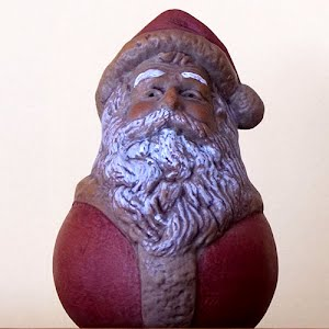 Vintage Pottery Santa Head