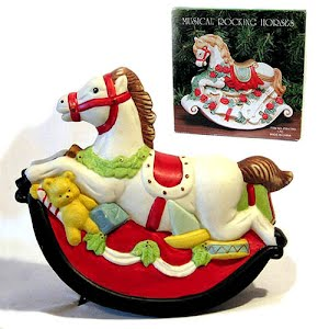 Vintage Christmas Musical Rocking Horse